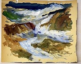 Frederick Waugh Original Watercolor on Paper -