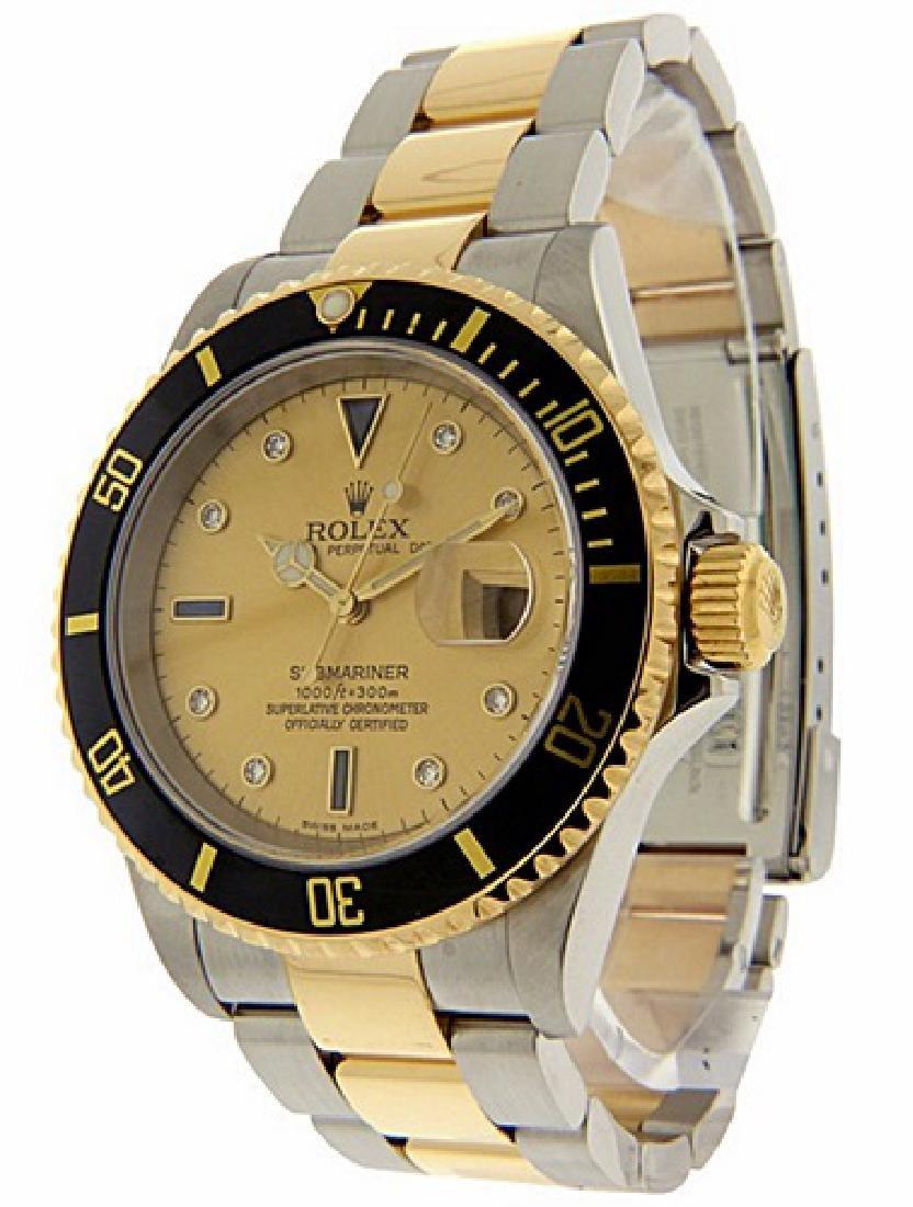 Men's 18K Gold Submariner Rolex Watch
