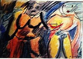 Willem De Kooning - Two Woman Vii