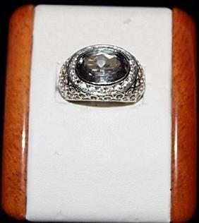 Very Beautiful Aquamarine Ring.