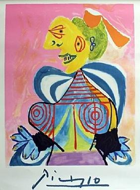 "Lithograph ""L' Alesienne"" By Pablo Picasso"