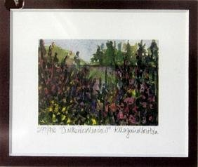 "Lithograph ""Creek Side Meadow"" By Kathleen Morolda"