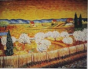 Vincent Van Gogh -Wheat Field With Cypresses