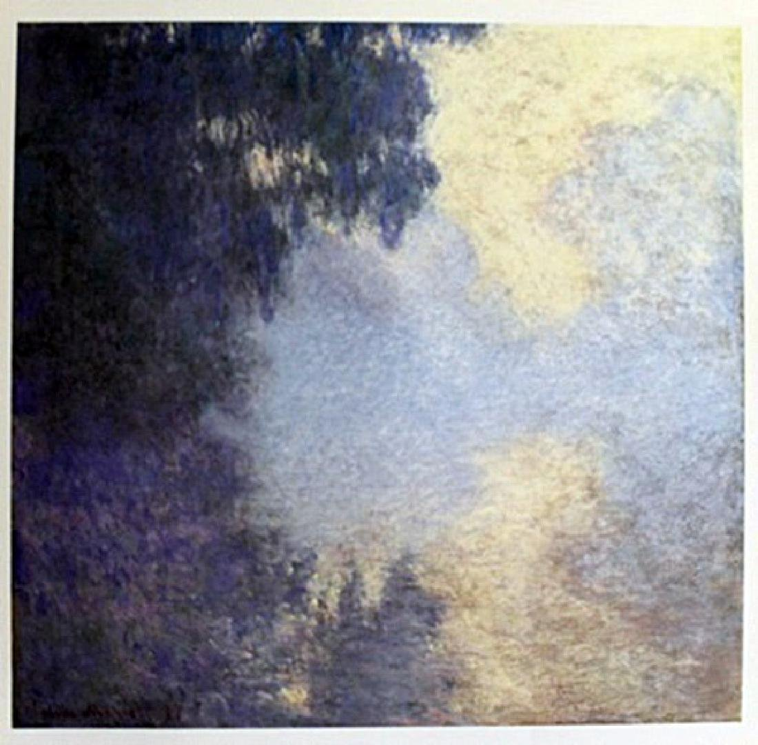 """Lithograph """"Morning on the Seine, Near Giverny"""" By"""