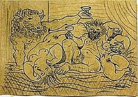 Drawing on Paper by Pablo Picasso