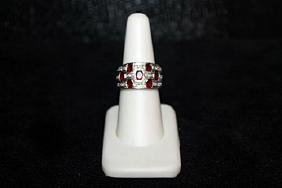 Lady's Fancy Brown Sapphire & Diamond Ring. (304J)