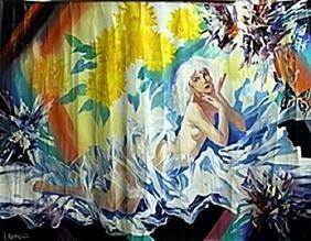 Acrylic on Canvas     I. Semeka