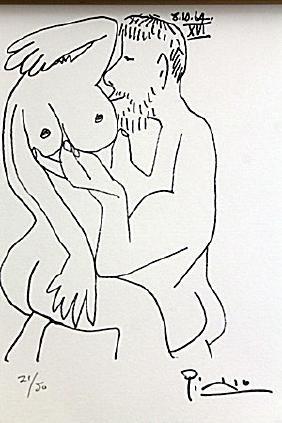 Le Gout Du Bonheur - 8.10.64 Ii By Pablo Picasso