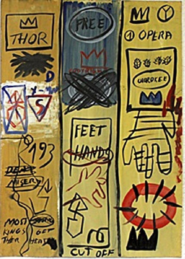 Oil Painting on Paper  - Jean-Michel Basquiat
