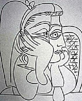 Oil Painting On Paper By Pablo Picasso
