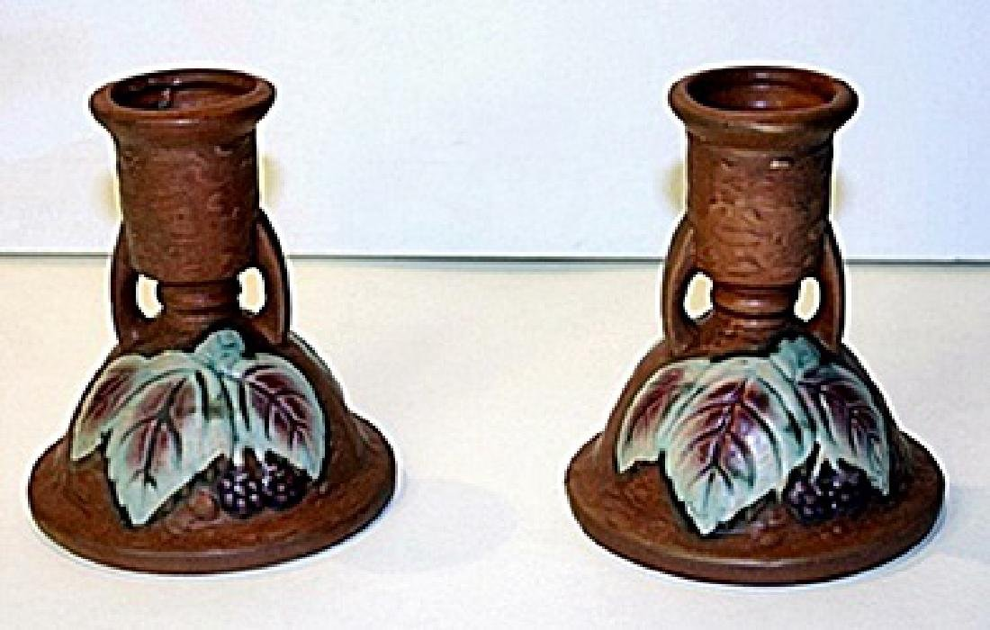 Set of 2 Roseville Porcelain approx dimensions are
