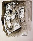 Watercolor Signed Picasso