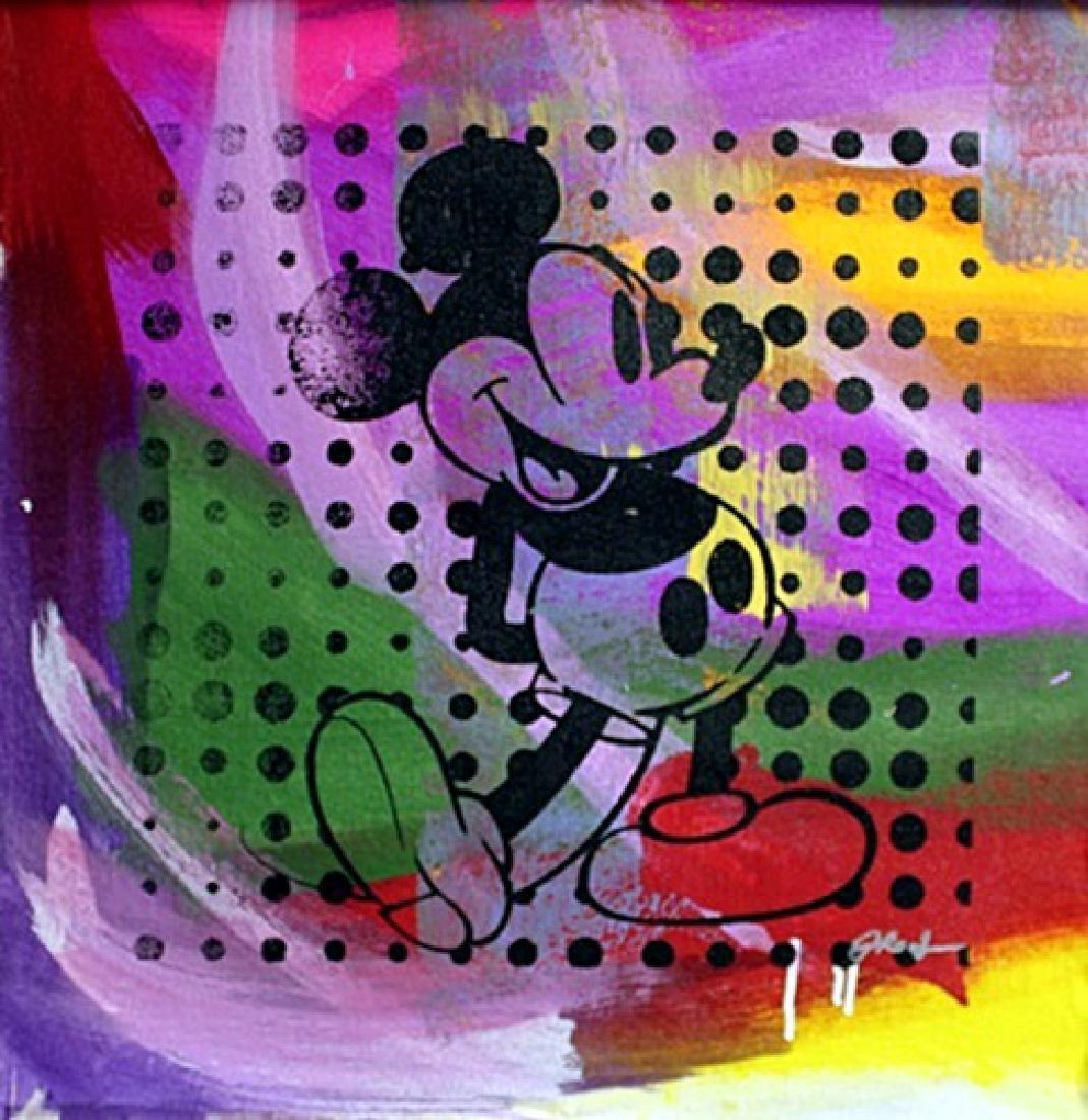 "Original/Mixed Media on Cavas ""Vintage Mickey"" By Gail"