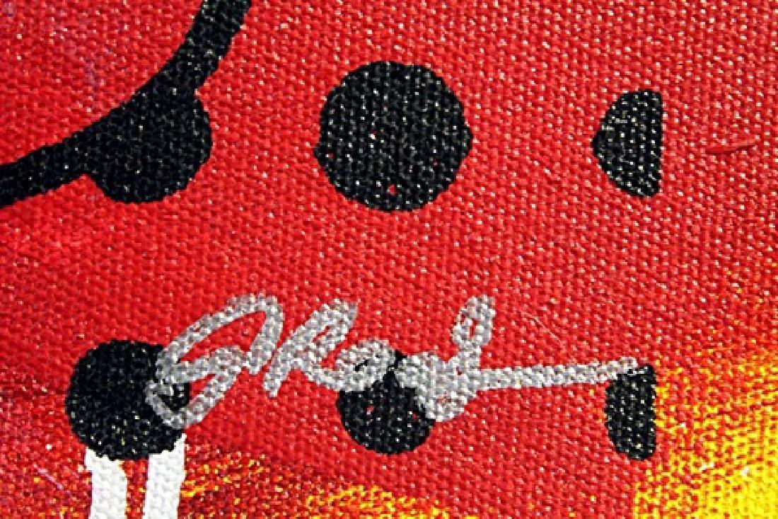 "Original/Mixed Media on Cavas ""Vintage Mickey"" By Gail - 2"