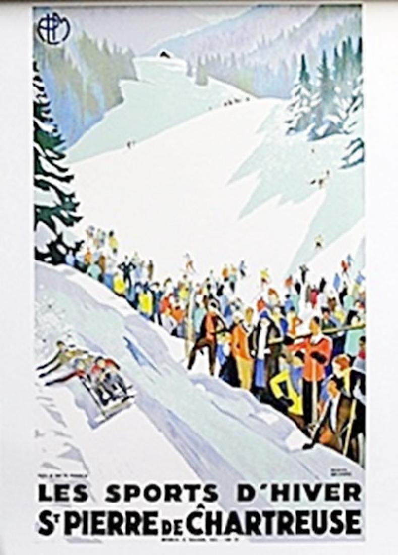 """Lithograph """"Les Sports D'Hiver""""   Roger Broders"""