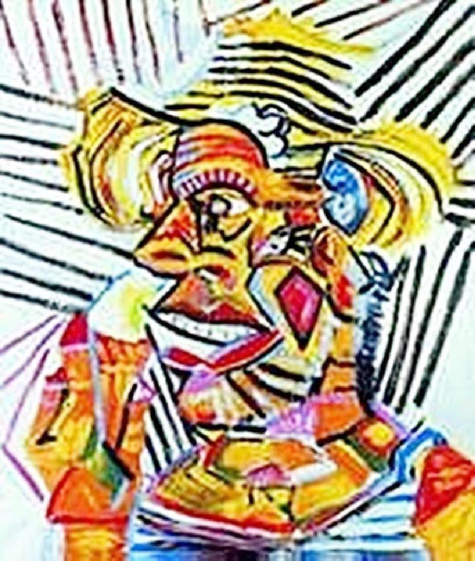 Man with straw hat-Collection Domaine Picasso