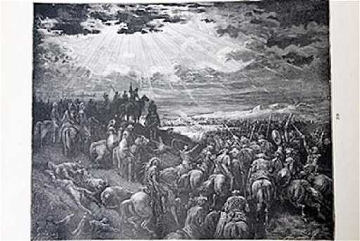 The Dore Bible Gallery The War Against Gibeon