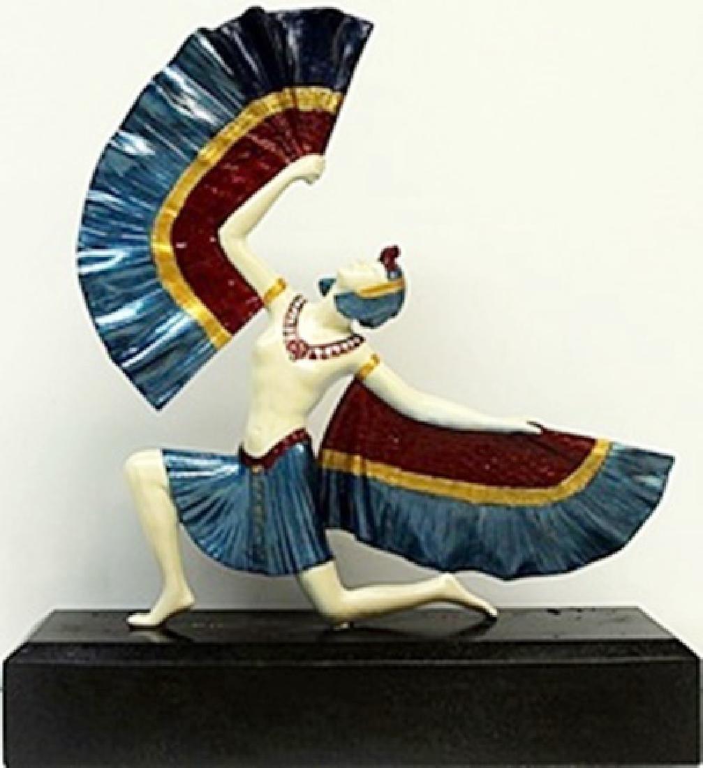 Fan Dancer - Bronze  Sculp. -  D.H. Chiparus