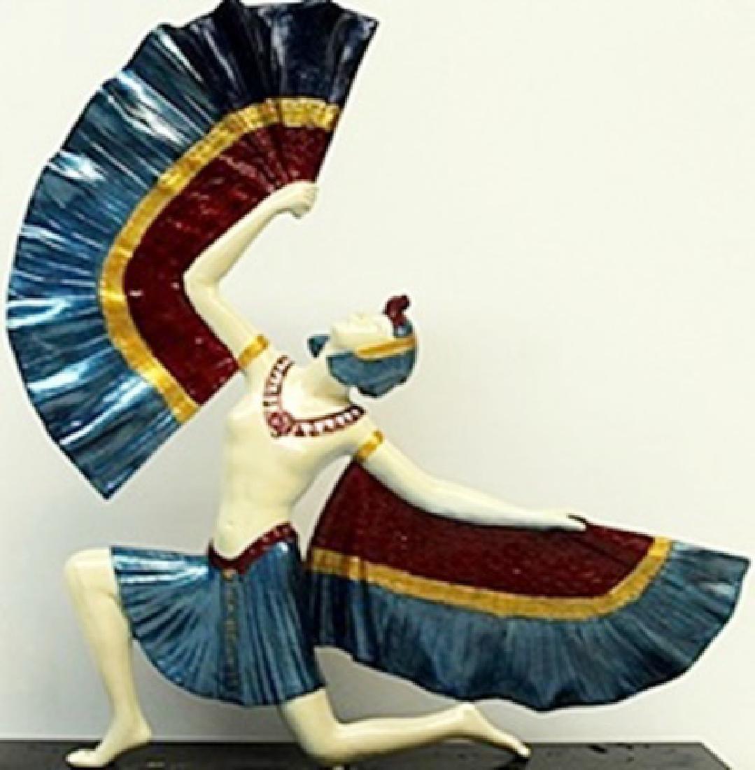 Fan Dancer - Bronze  Sculp. -  D.H. Chiparus - 2