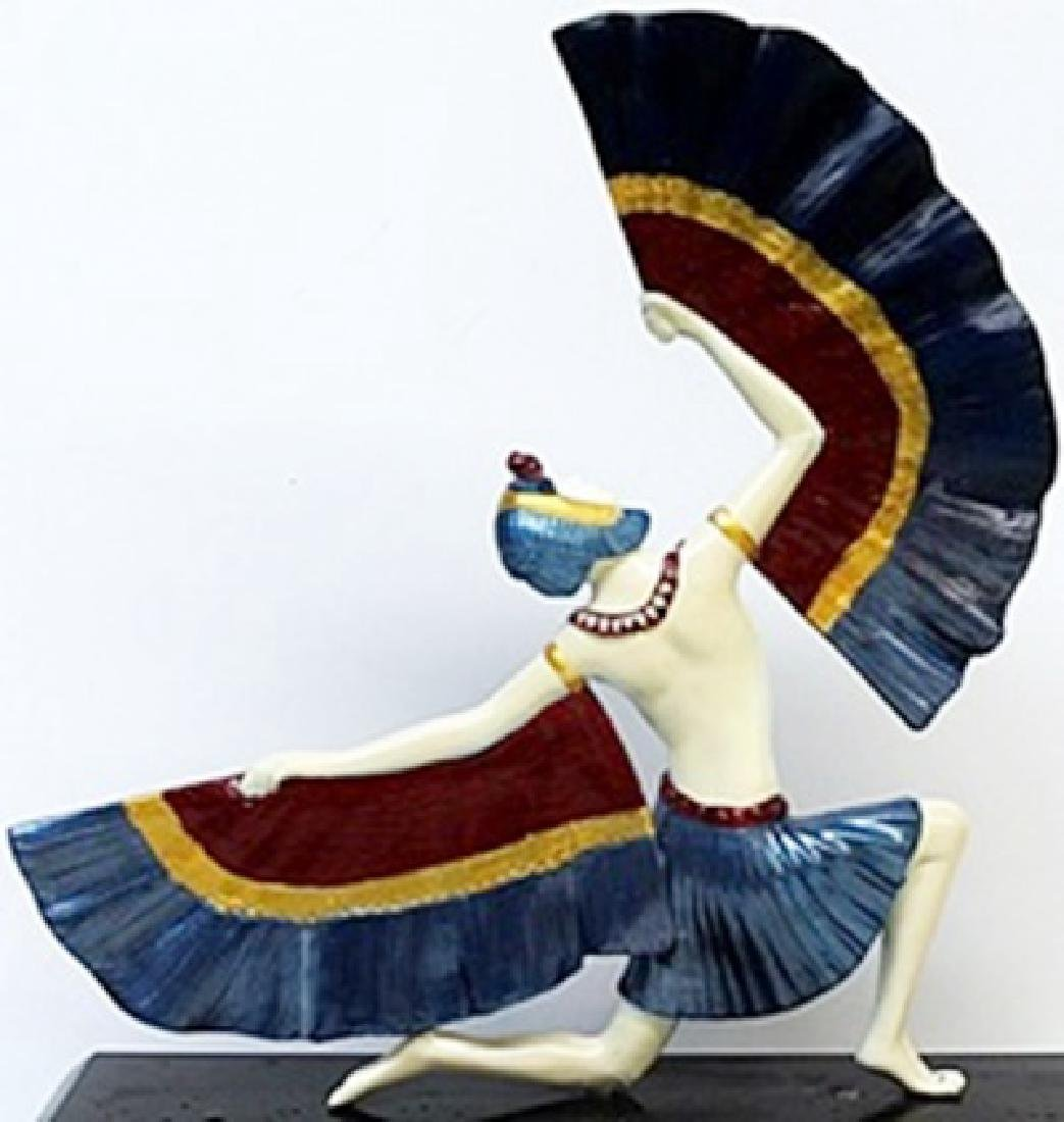 Fan Dancer - Bronze  Sculp. -  D.H. Chiparus - 3