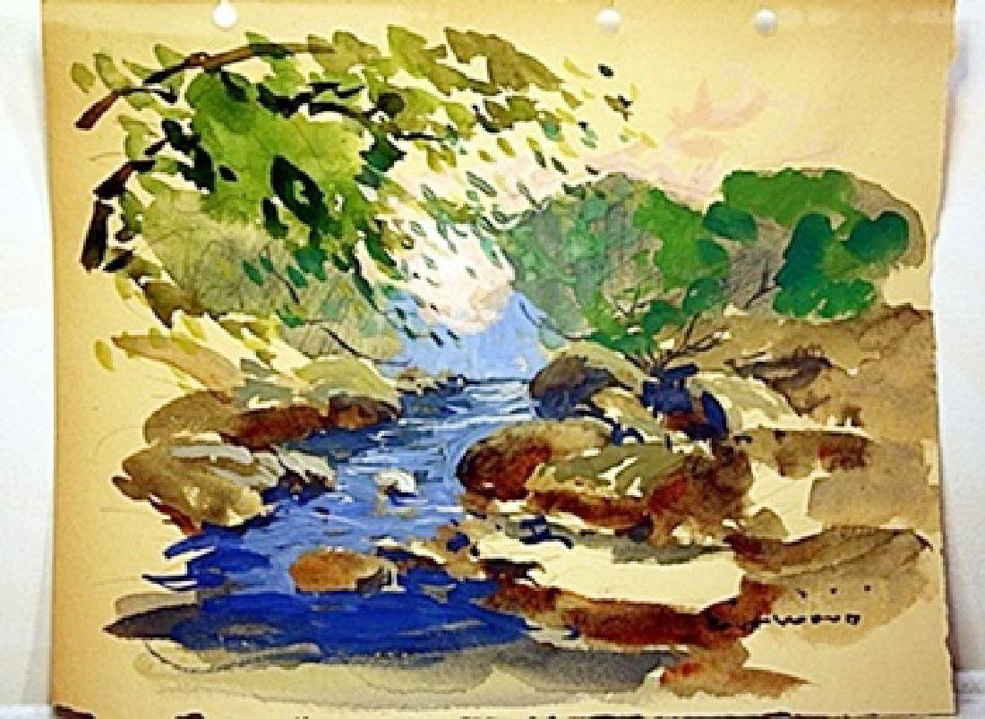 Robert Wood Original Watercolor on Paper