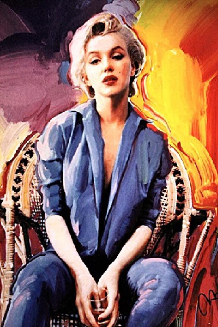 Peter Max Signed Lithograph - Marilyn Monroe - 2