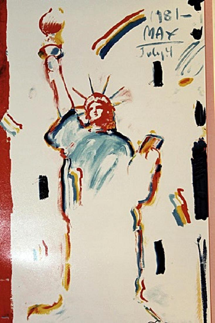 Peter Max Signed Lithograph - Statue of Liberty 2000 II - 2