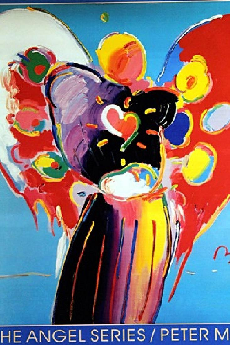Peter Max Signed Lithograph - Angel With Heart - 2