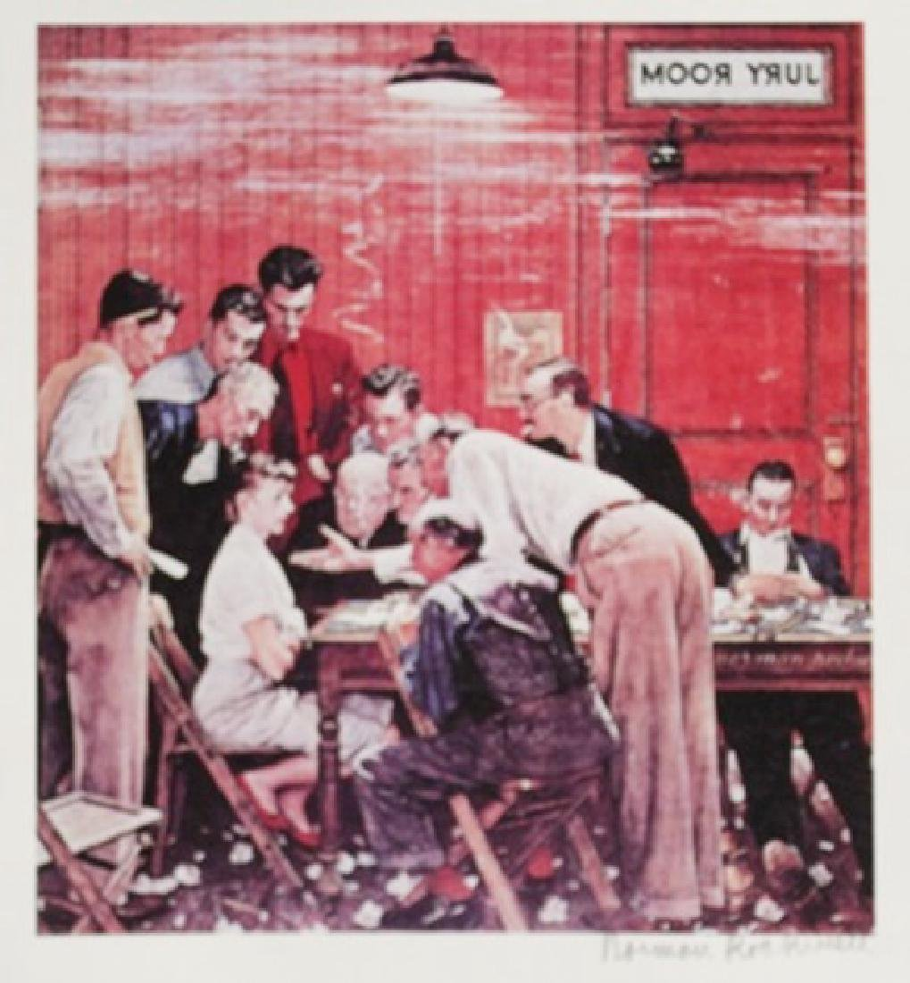 "Lithograph ""Hold out"" By Norman Rockwell"