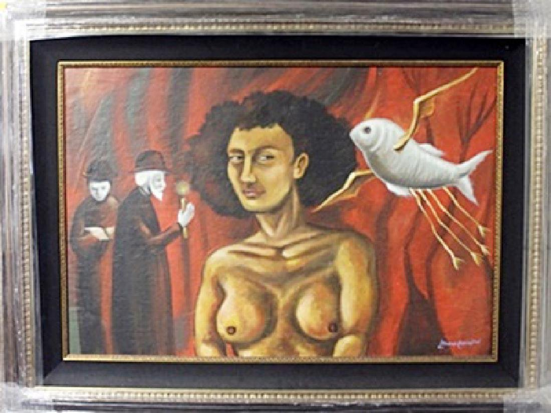 Oil Painting on Canvas  Leonora Carrington