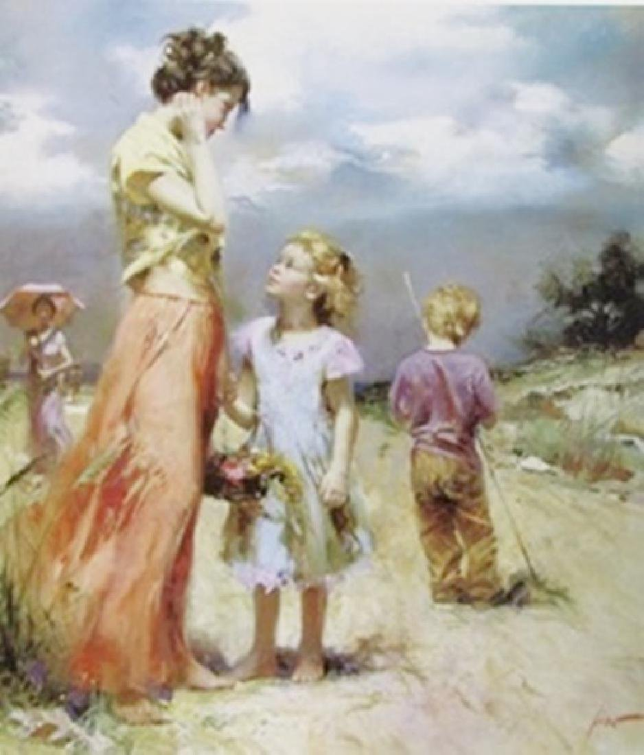 """""""Remember When"""" Giclee on Canvas by Pino"""
