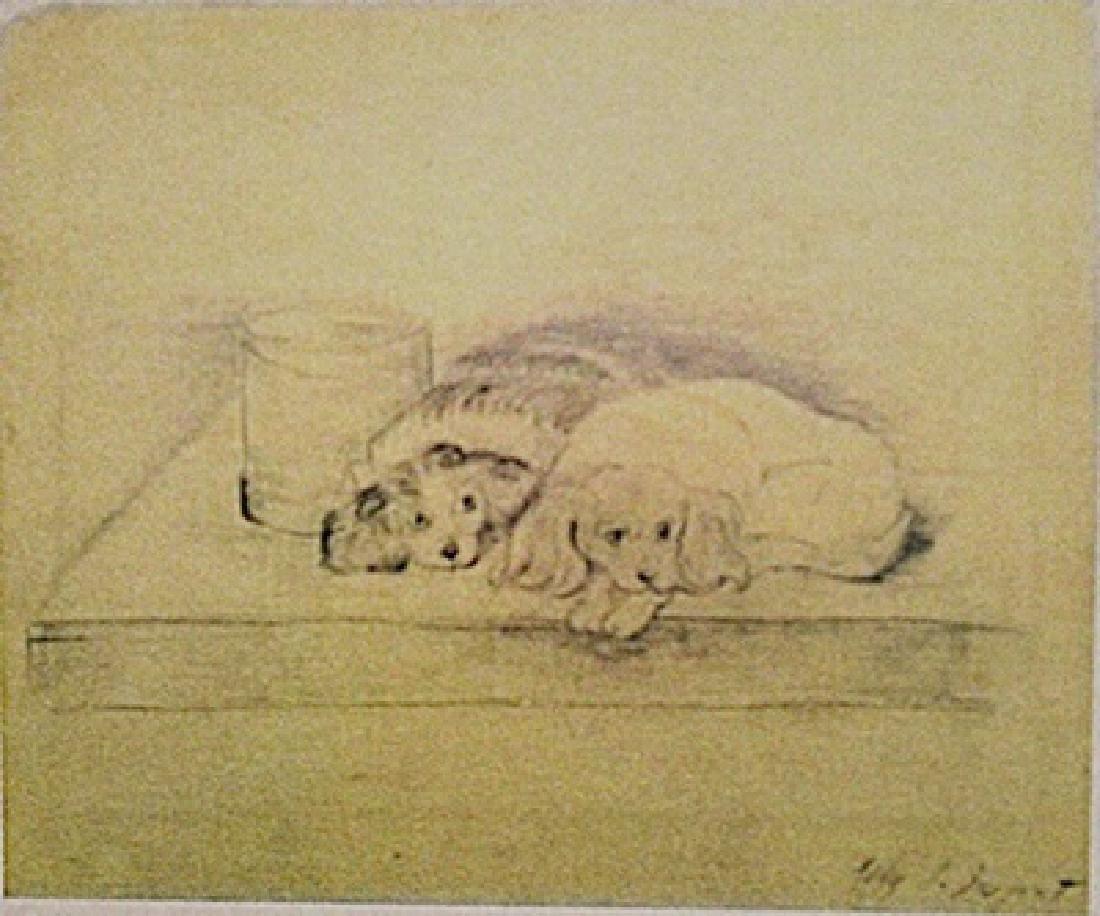 John Singer Sargent - Two Dogs