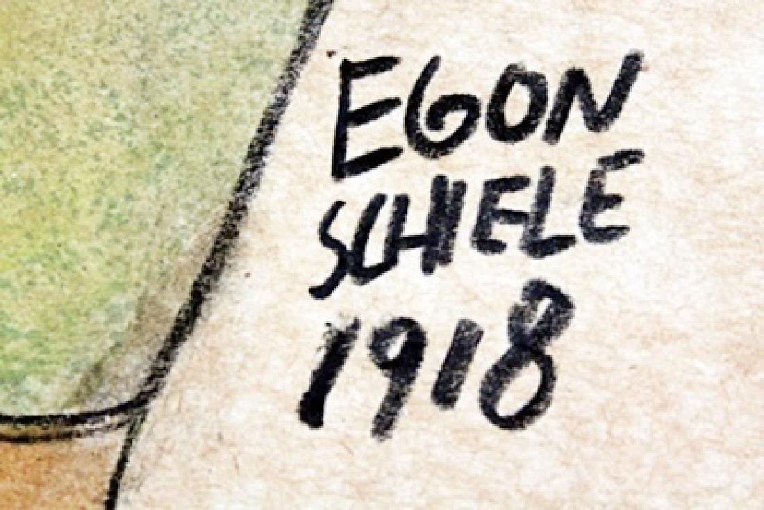 Woman - Gouache on Paper  Egon Shiele - 2