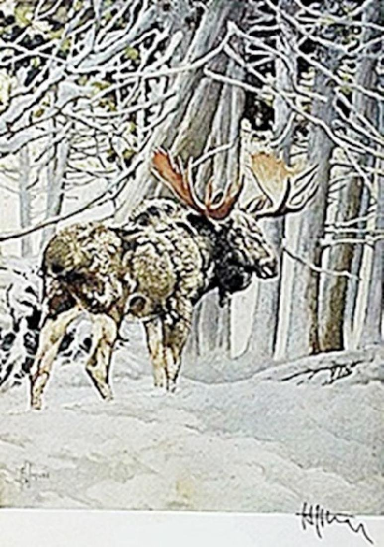 """LITHOGRAPH """"THE MOOSE""""     ARTIST FRANCIS LEE JAQUES"""