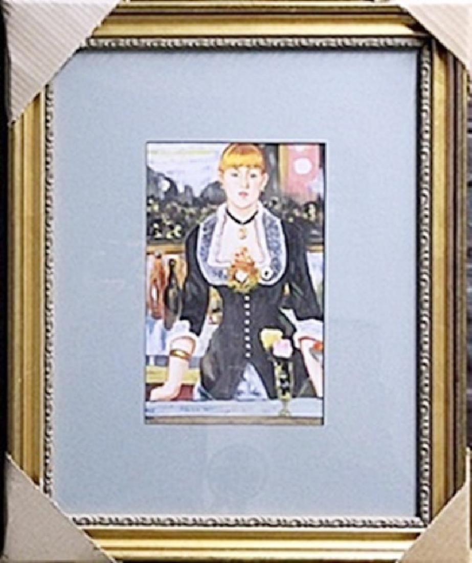 Mixed Media Original On Paper Edouard Manet
