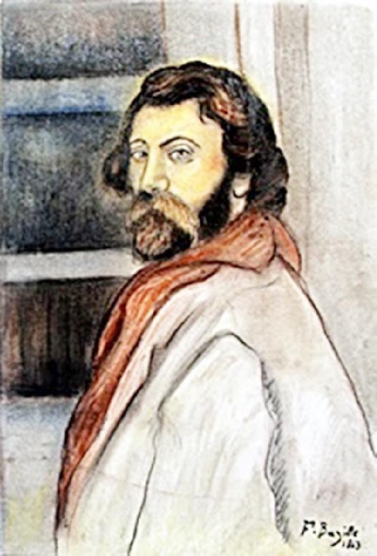 Self Portrait Pastel  Frederic Bazille
