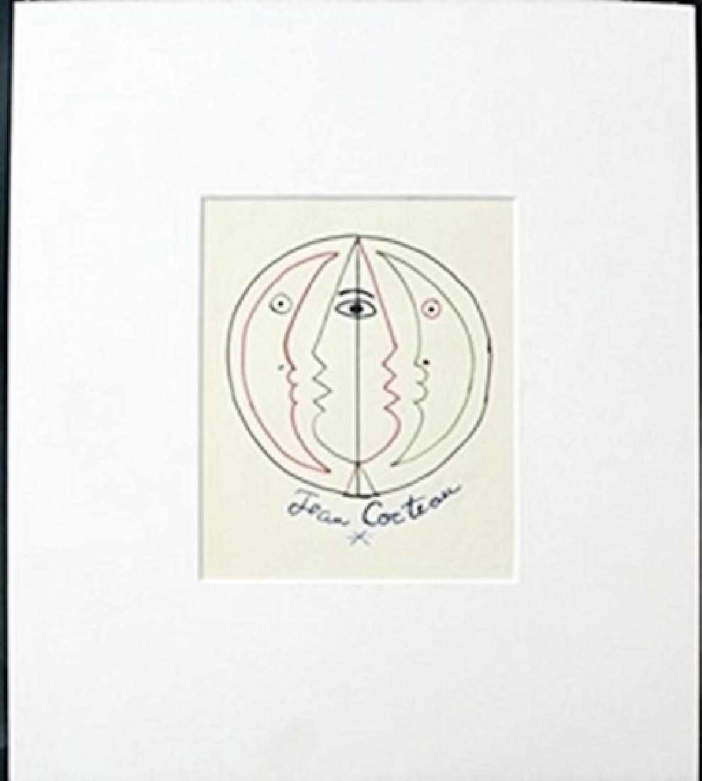Original Oil By Jean Cocteau