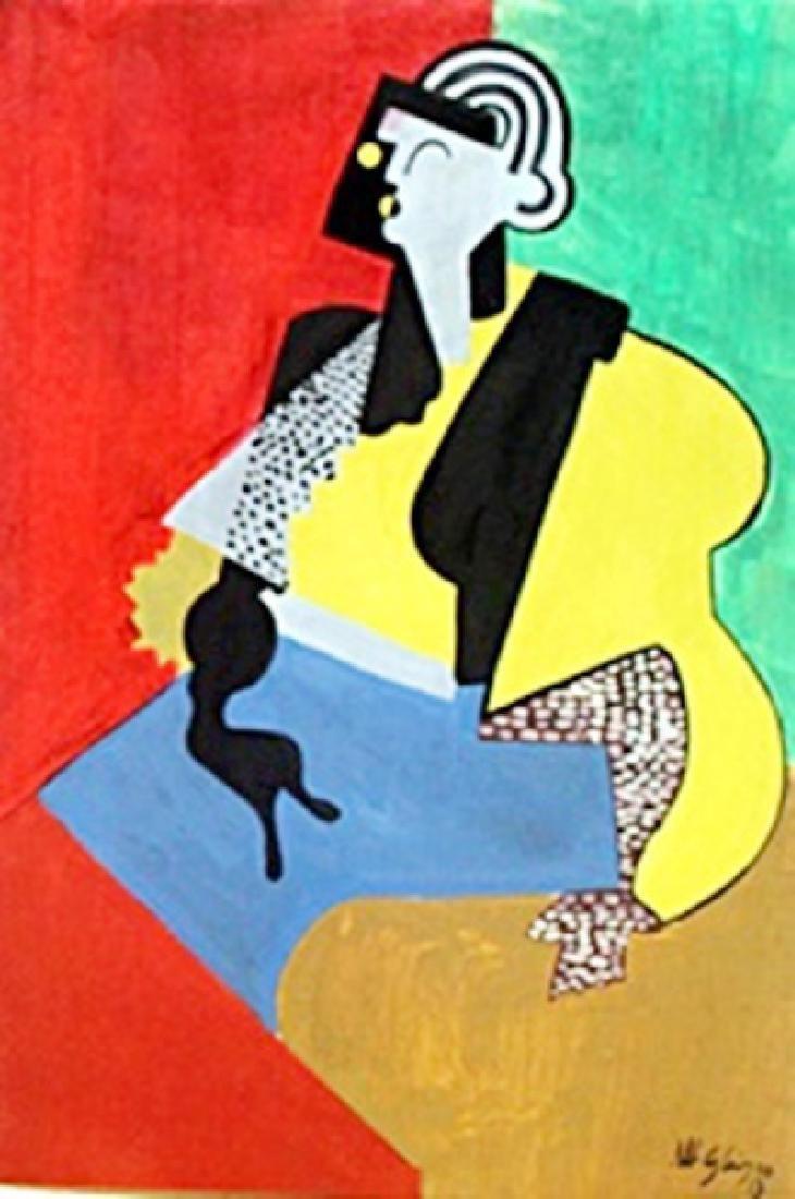 Untitled - Oil Painting on Paper - Albert Gleizes