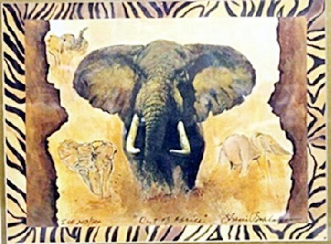 "Lithograph ""Out of Africa""  Sharie Hatchett Bohlmann"