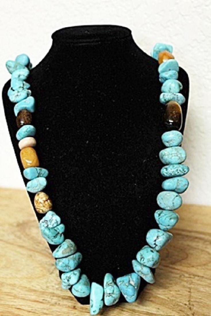 Turquoise Tiger Eye Necklace