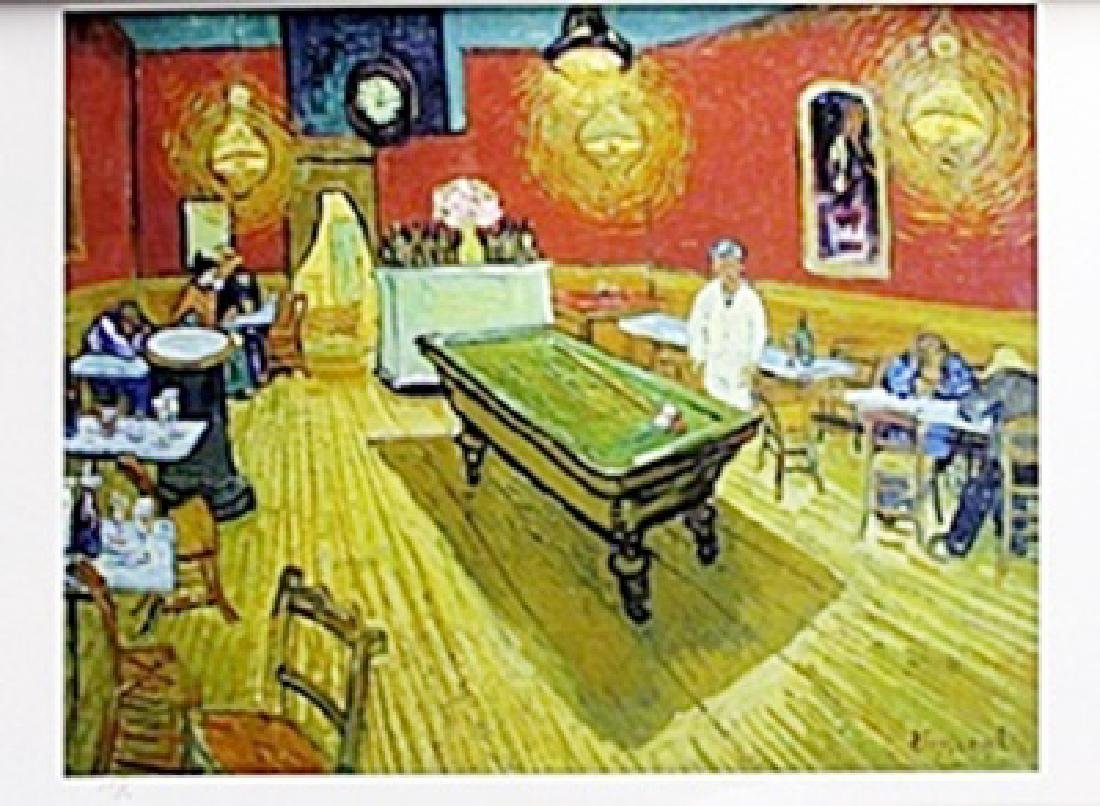 "Lithograph ""The Rec Room""   Vincent Van Gogh"