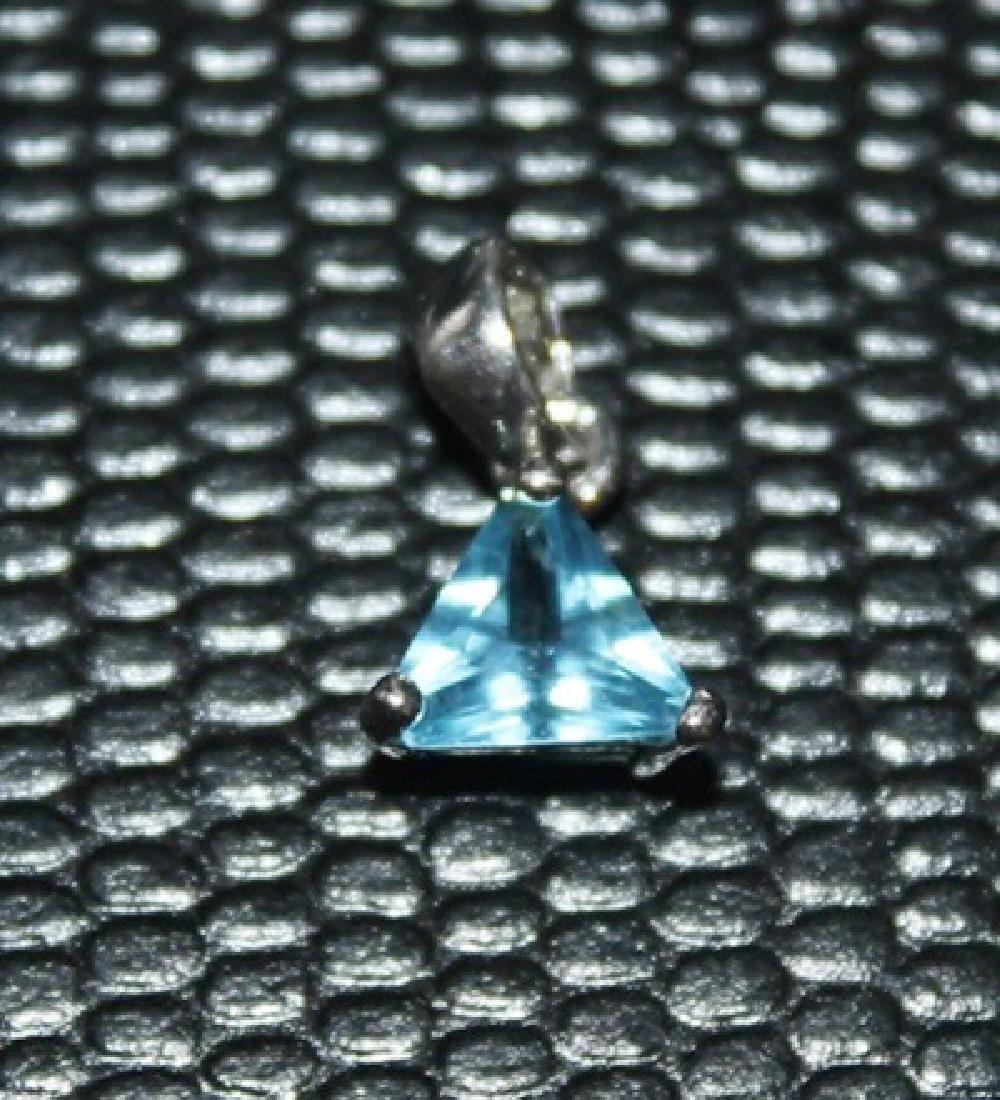 Beautiful Royal Blue Topaz Pendant.