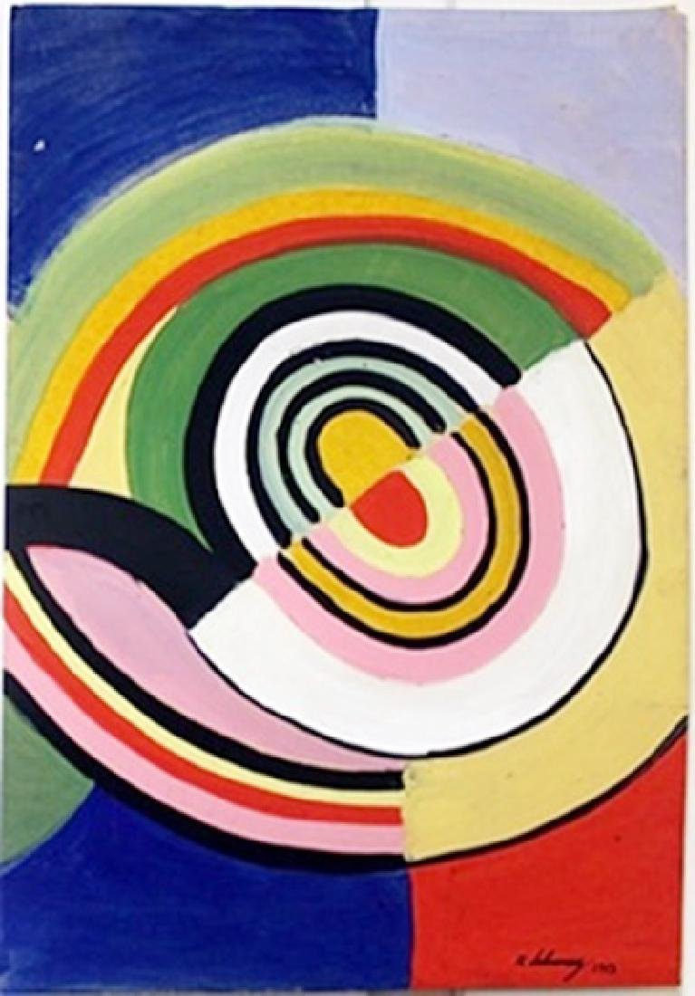 Oil Painting on Paper by Robert Delaunay