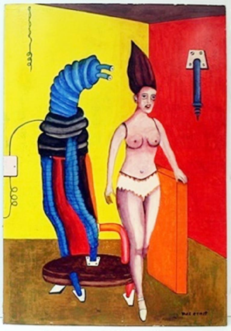 Oil on Wood by Max Ernst