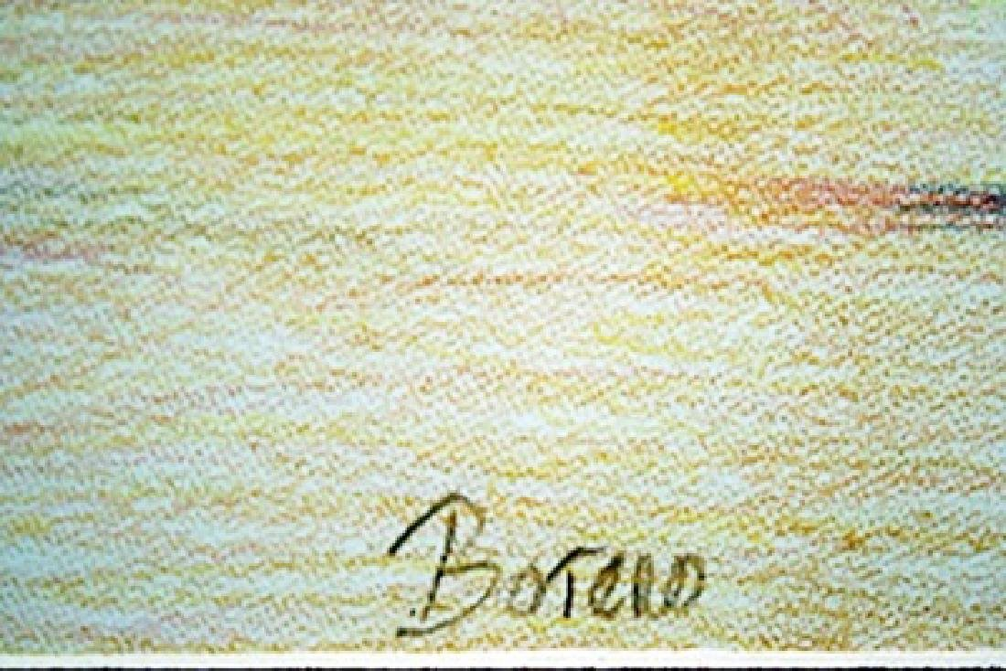 Original Color Pencil on laid paper - signed  Botero - 2