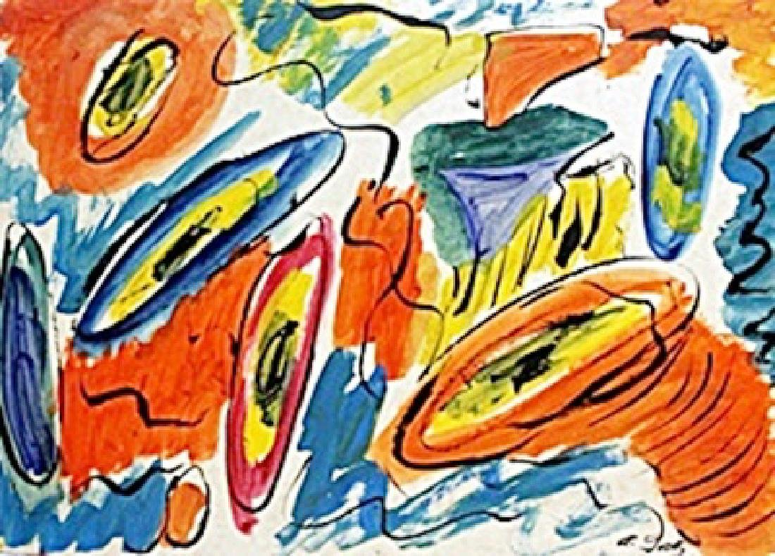 Composition - Oil Painting on Paper - Arshile Gorky