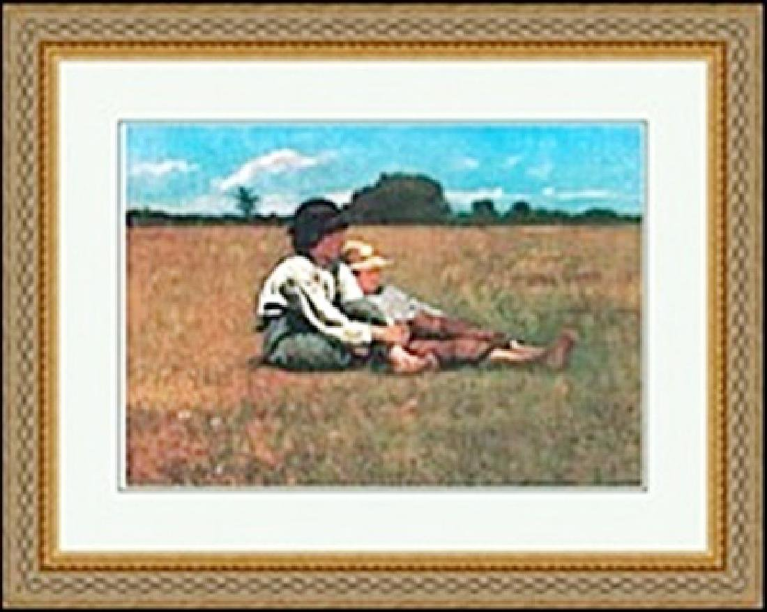BOYS IN A PASTURE     WINSLOW HOMER