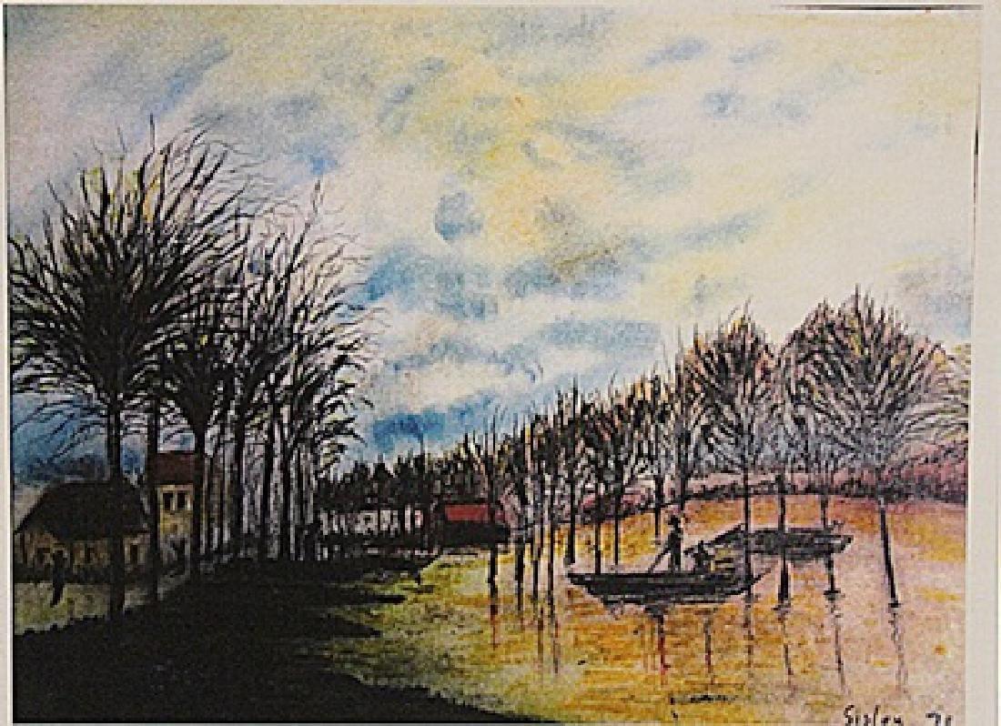 Alfred Sisley - Boats At Port