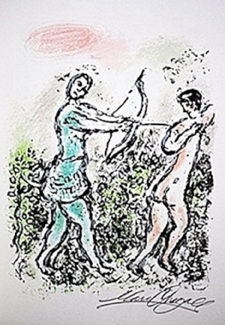 """Lithograph """"Ulysses' Bow""""     Chagall from the Odyssey"""