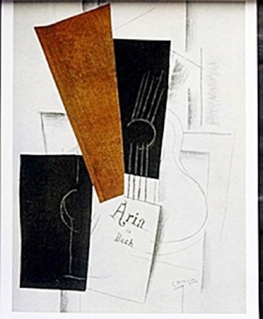 "Lithograph ""Aria de Bach""   Georges Braque"